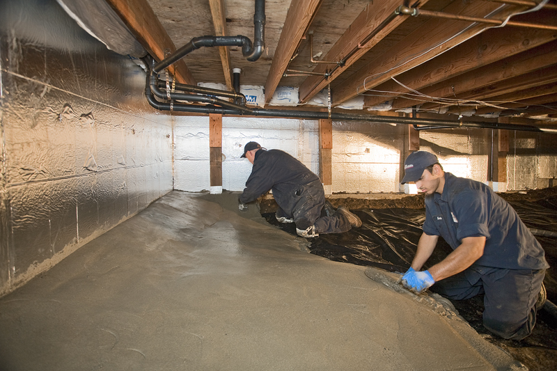 Concrete For Crawl Spaces Encapsulation Permadry