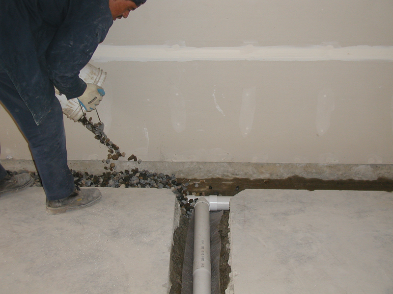 Concrete Repair Interior Sub Floor